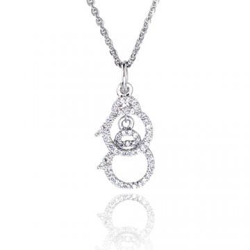 【Luperla】璀璨滿鑽銀飾系列-愛情手銬項鍊