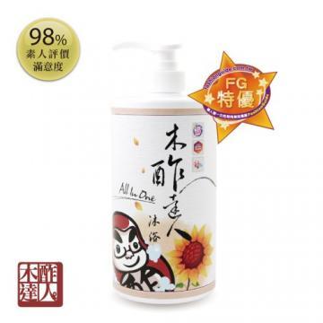 天然黃金水木酢親膚沐浴乳1000ml-全身可用【#23202】-木酢達人