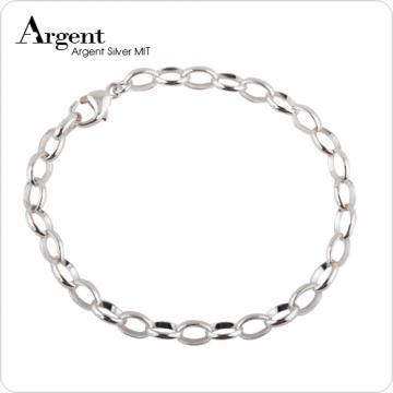【ARGENT銀飾】隨意扣系列「馬眼鍊(5mm)(純銀)」純銀手鍊