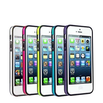 <b><font color=red><買一送一></font>S-Clear iPhone5 晶透亮彩雙料成型保護框