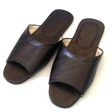 (e鞋院)加大尺寸★菱格紋★舒適室內拖鞋 ~咖~