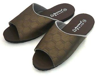 (e鞋院)幾何概念可水洗室內皮拖 ~可水洗~