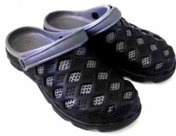 (e鞋院)園丁鞋/布希鞋II---男(黑/灰)