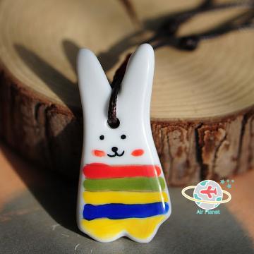 大耳朵兔陶瓷項鍊