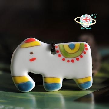 印度大象陶瓷項鍊