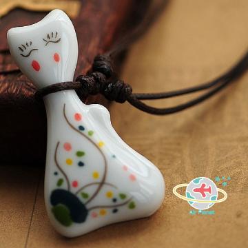 小懶貓陶瓷項鍊