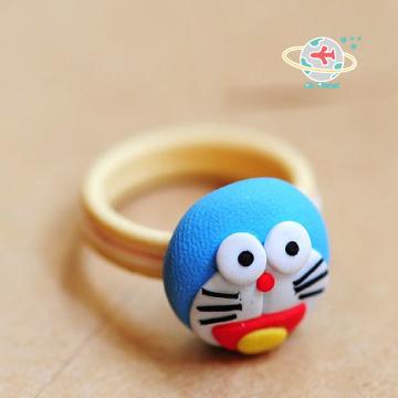 軟陶叮噹貓戒指