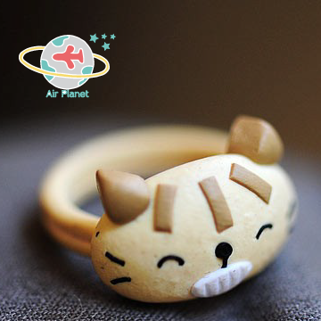 <Air planet 手工飾品>瞌睡貓軟陶戒指