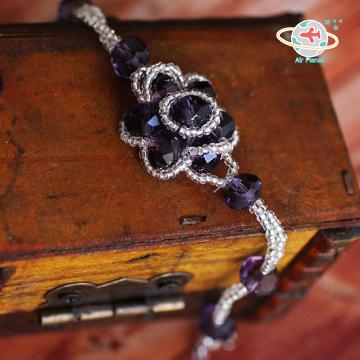 <Air planet 手工飾品>紫水晶米珠手鍊