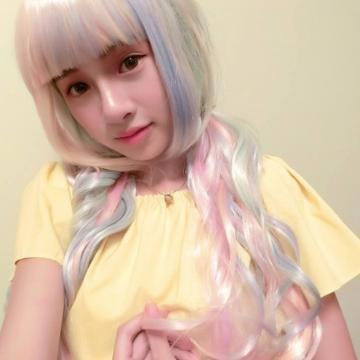 【MA148】PONY彩虹小馬彩色長捲髮