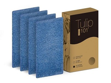 【EMEME】掃地機器人吸塵器 Tulip 101專用耗材☆超纖細維拖布四片裝(可水洗)