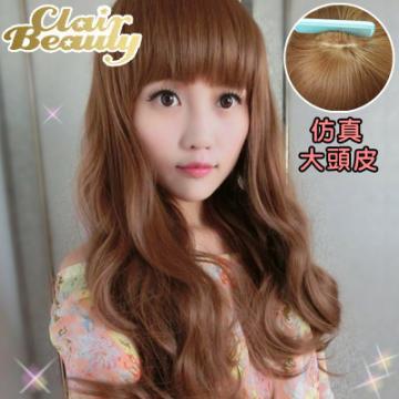 【MA146】妹妹頭愛戀微捲中長捲髮(加大仿真頭皮)
