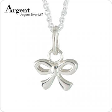 【ARGENT銀飾】迷你系列「小蝴蝶結」純銀項鍊