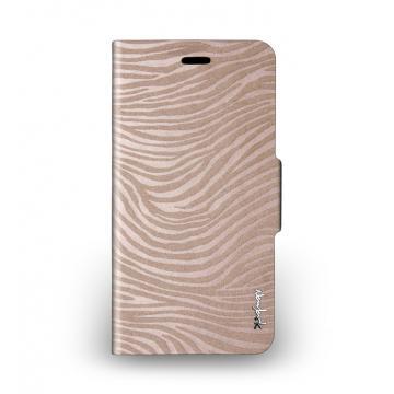 iPhone 6 Plus - 斑馬紋側掀站立式保護套 - 玫瑰金