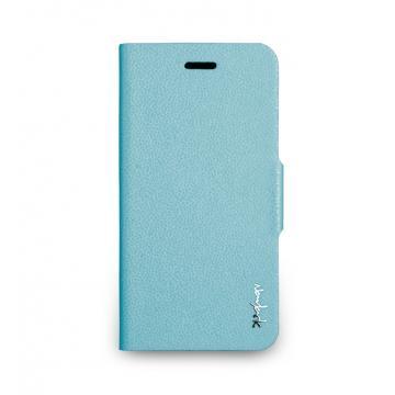 iPhone 6 -柔光側掀站立式保護套- 湖水藍