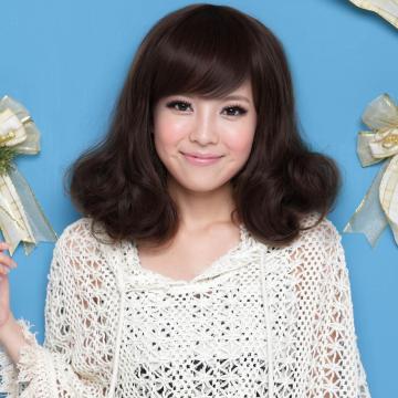 【MX031】耐熱纖維-時尚輕熟女波浪短捲髮型