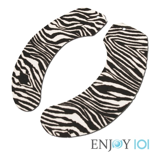 《ENJOY101》水洗式抑菌止滑馬桶坐墊(馬桶墊/保潔墊)-旅行攜帶型-斑馬紋