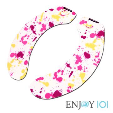 《ENJOY101》水洗式抑菌止滑馬桶坐墊(馬桶墊/保潔墊)-旅行攜帶型-彩色潑墨