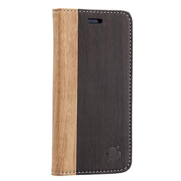 daruma Balsa iPhone 6 木頭紋側掀皮套