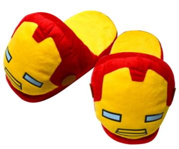 (e鞋院) 復仇者聯盟-鋼鐵人頭型室內絨布拖鞋