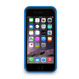 iPhone 6 - 撞色可立式保護框 - 湛藍色