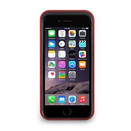 iPhone 6- 撞色可立式保護框 - 寶紅色