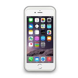 iPhone 6- 撞色可立式保護框 - 珍珠白