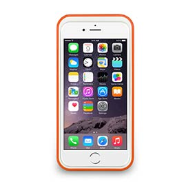 iPhone 6- 撞色可立式保護框 - 香橙橘