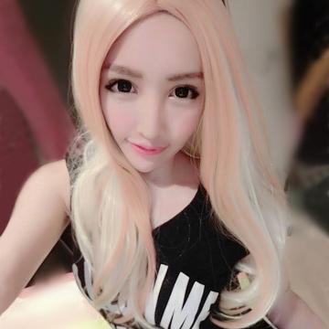 【MC004】角色扮演/歐美時尚中分橘銅混米金微捲長髮