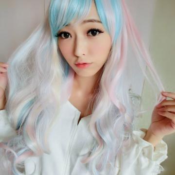 【MA159】角色扮演/PONY彩虹小馬彩色長捲髮