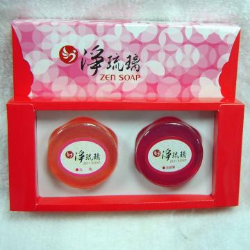 《淨琉璃》手工美容皂禮盒【100g*二入】(紅+紫)