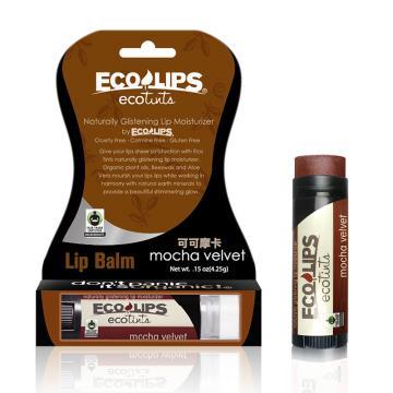 美國ECO LIPS 依蔻麗唇 天然護唇膏 超潤澤彩漾(可可摩卡 _咖啡紅)★限時促銷