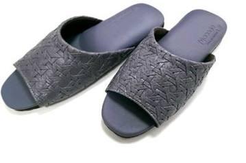 (e鞋院)金屬編織紋軟皮室內拖鞋