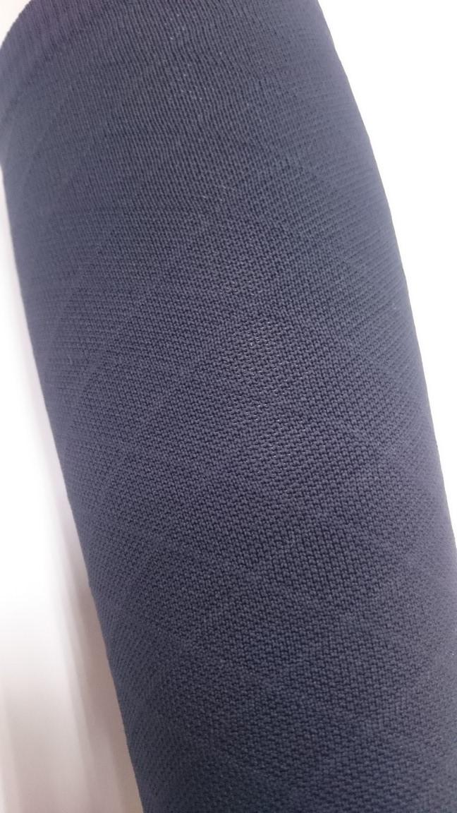 420 Den 菱格紋彈性小腿襪 - 黑色(四雙入)