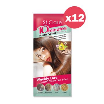 St.Clare聖克萊爾 10分瞬效溫塑膜髮帽12入組