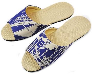 (e鞋院) 大溪地麻底室內拖鞋 ~藍~