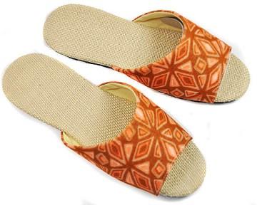 (e鞋院) 大溪地麻底室內拖鞋 ~橘~