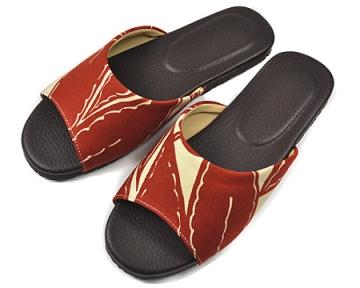 (e鞋院)自然生活室內皮拖鞋~紅~