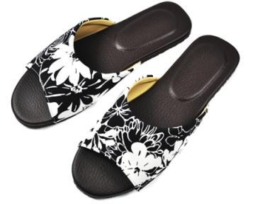 (e鞋院)自然生活室內皮拖鞋~黑~