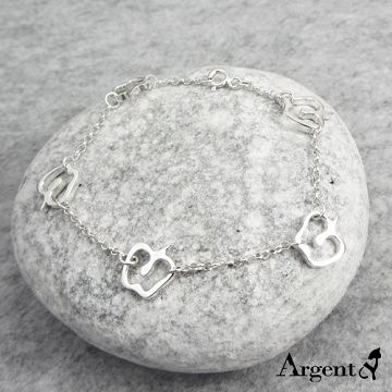 【ARGENT安爵銀飾精品】水果造型系列「蘋果戀曲」純銀手鍊