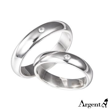【ARGENT安爵銀飾精品】情人對戒系列「經典(4mm+5mm)」純銀戒指(一對價)