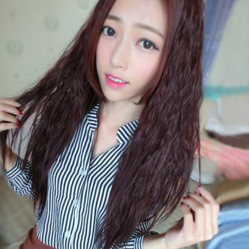 【MW005】半罩式-蓬鬆感玉米鬚長髮