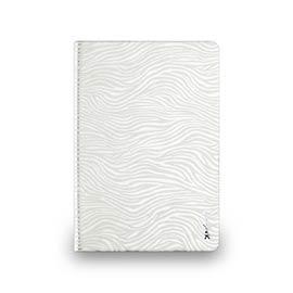 iPad mini 2&3 - 斑馬紋對開式保護套- 珍珠白