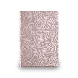 iPad mini 2&3 - 斑馬紋對開式保護套- 玫瑰金