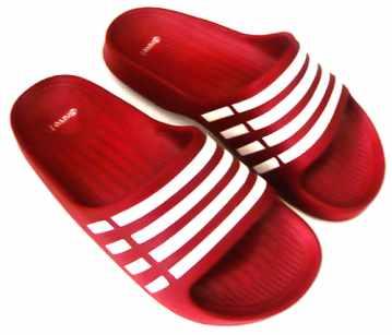 (e鞋院)極簡線條輕量運動休閒拖鞋 ~女~  (紅)