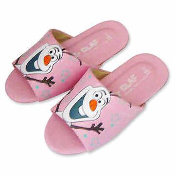 (e鞋院)迪士尼冰雪奇緣兒童室內拖鞋-雪寶 (粉)