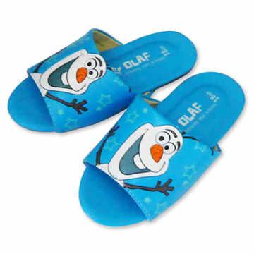 (e鞋院)迪士尼冰雪奇緣兒童室內拖鞋-雪寶 (藍)