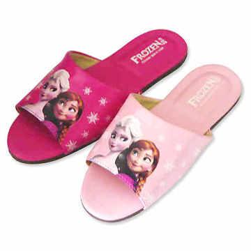 (e鞋院)迪士尼冰雪奇緣大人室內拖鞋-艾莎與安娜