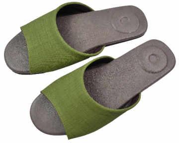 (e鞋院)淡雅物語按摩室內拖-- 草綠