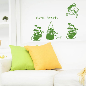 Smart Design 創意無痕壁貼◆LOVE澆花 8色可選
